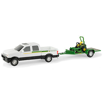 Pickup w/ John Deere Z Trak Mower Set (1/32)