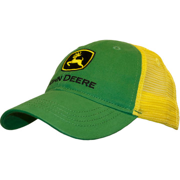 Boy Youth Cap Green Trucker
