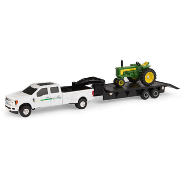 John Deere 530 Tractor with F350 and Trailer Set (1/64)