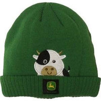 BOY TODDLER WINTER COW BEANIE