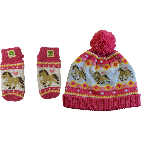 Girl Toddler Beanie Farm Pony