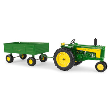 John Deere 730 Tractor  with Barge Wagon (1/16)