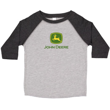 John Deere Logo Boys Youth 3/4 Sleeve Tee