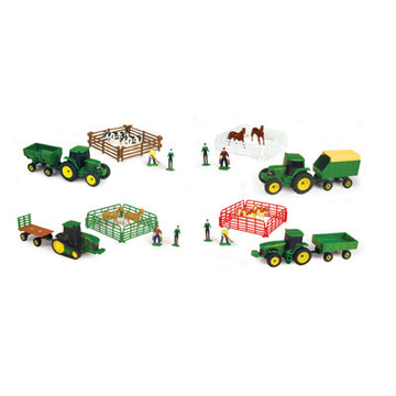 10-piece Farm Set Asst with John Deere vehicle