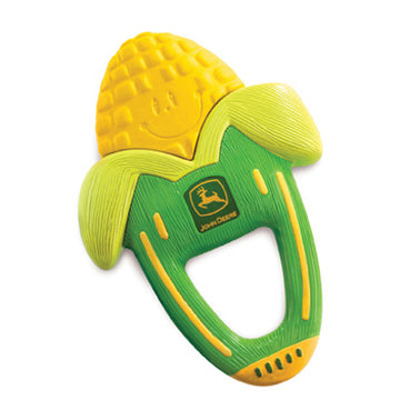 Massaging Corn Teether with  John Deere Logo for baby