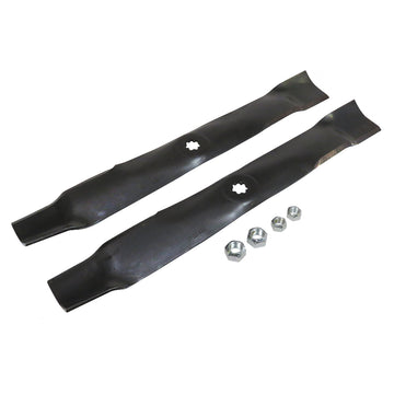 "Lawn Mower Blade Kit (Mulch) for 100 Series,LT,S200,X300 and Z200 Series w/ 42"" Deck"