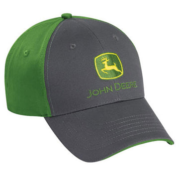 John Deere Charcoal/Green Cloth Cap