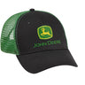John Deere Men's Black and Green Mesh Back Hat