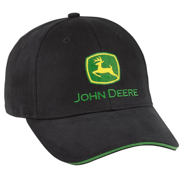 Black Flexseam Cap John Deere