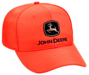 John Deere Hunter Orange Structured Hat