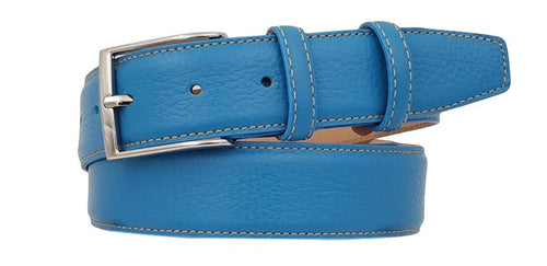 3.5 cm belt in real deer printed leather, cowhide lining and nickel free buckle
