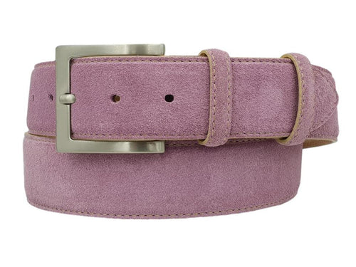 Men's 3.5 cm Suede Belt, Nubuck lining and Nickel free buckle - Bosco