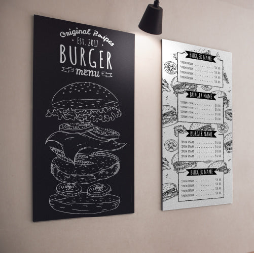 Menu Boards Mounted to Wall