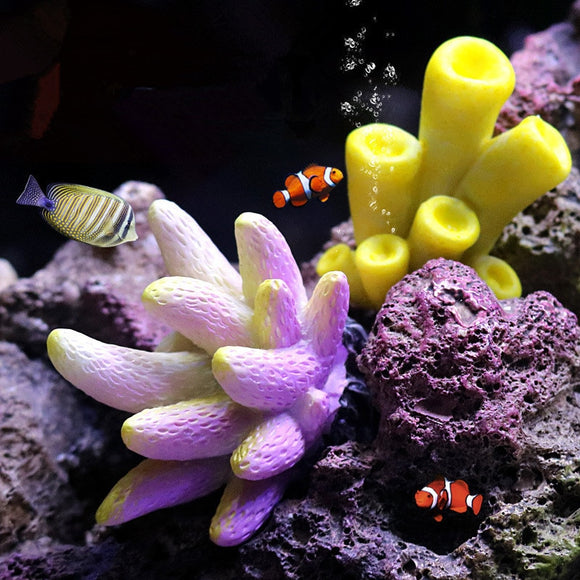Coral artificial Coral Ornaments Colorful Underwater Aquarium Ornaments Resin Corals Fish Tank decoration Aquarium Accessories