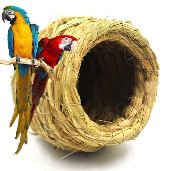 Handmade Straw Natural Bird Nest/Pigeon Bird House Parrot Nest Warm Pet Bedroom Courtyard Bird Cages Adornment