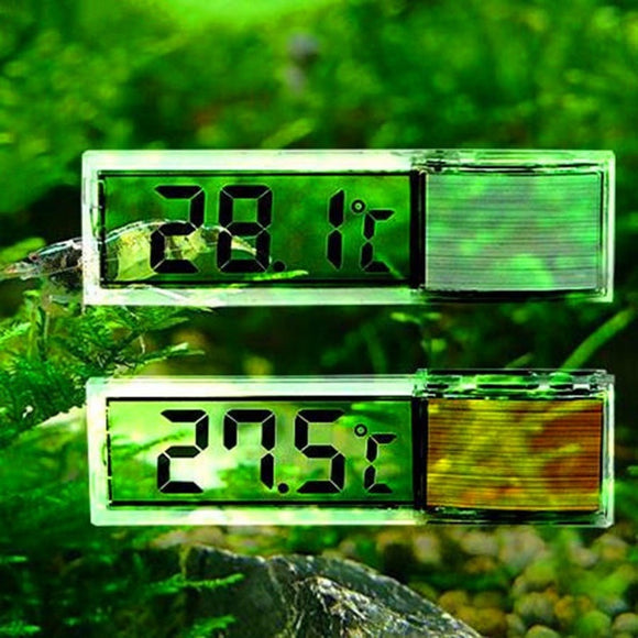 Plastic Metal 3D Digital Electronic Aquarium Thermometer Fish Tank Temp Meter Gold Silver Induction Type Fish Tank Thermometer