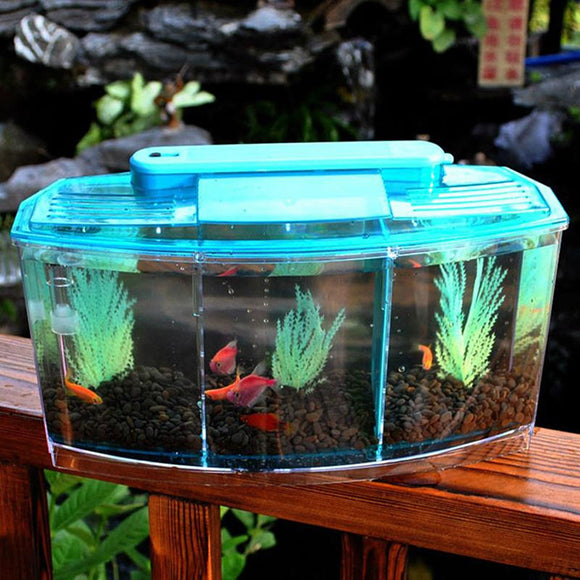 Partition Spawning Box Spawning Fish Tank Betta Fish Tank DIY Ornament Goldfish 2 Colors Fishbowl Aquarium Environmental Shrimp