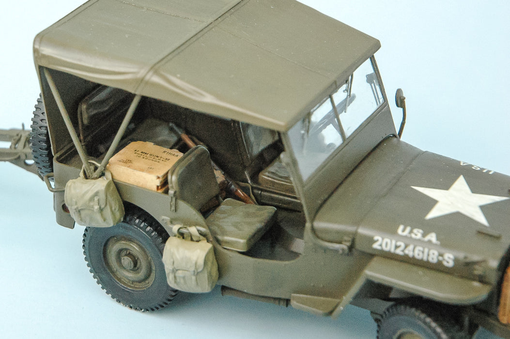1/35 US GPW 1/4 TON 4X4 UTILITY VEHICLE W / ANTI TANK GUN BRONCO MODELS CB35107