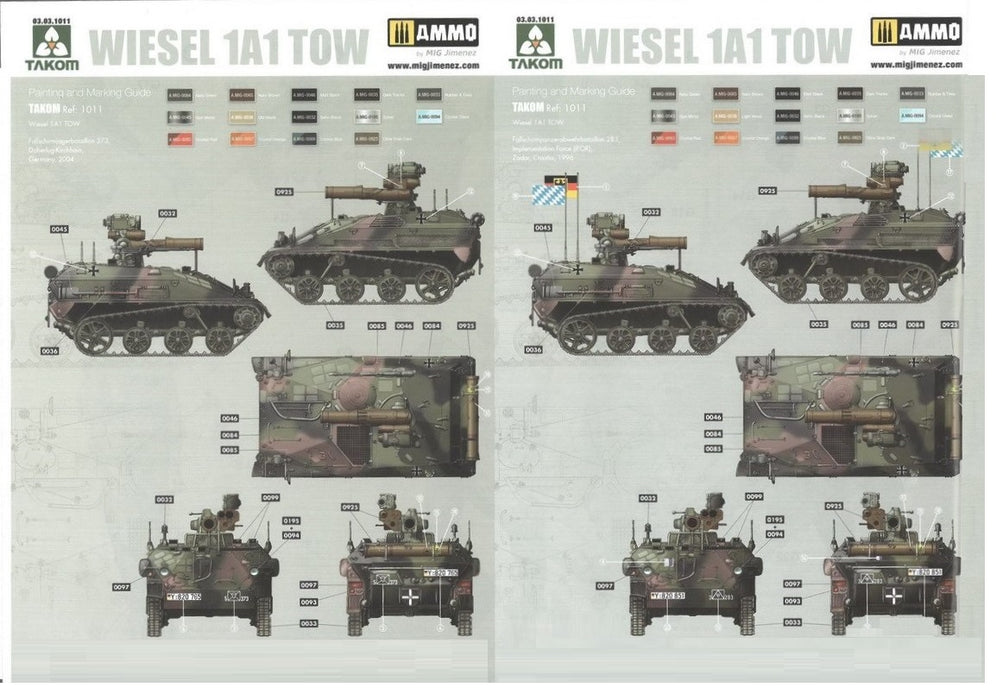 1/16 Takom Wiesel A1 with TOW Missile and Crew Figure