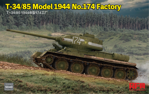 1/35 T34/85  Model 1945 No.174 Factory with Sectional Tracks by RyeField Model