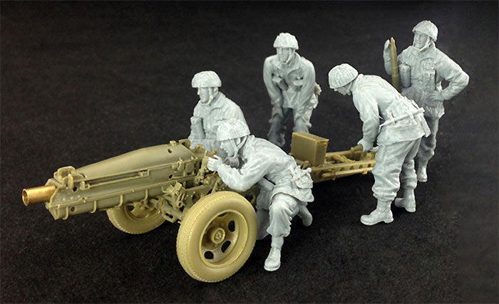 1/35 75mm PACK HOWITZER M1A1 (BRITISH AIRBORNE VERSION) & GUN CREW BRONCO MODELS CB35173