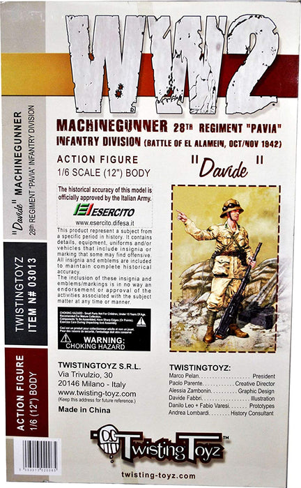 "1/6 28th Regiment ""PAVIA"" Infantry Division Machine Gunner ""Davide"" w/ Bred"