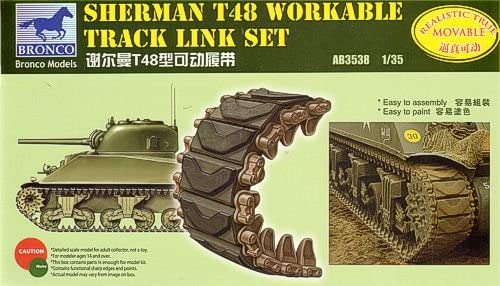 1/35 SHERMAN T48 WORKABLE TRACK LINK SET - BRONCO MODELS
