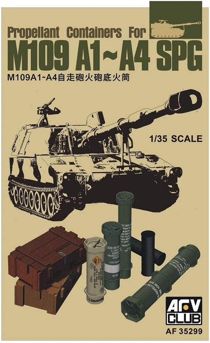 1/35 PROPELLANT CONTAINERS FOR M109 A1-A4 SPG AFV CLUB AF35299