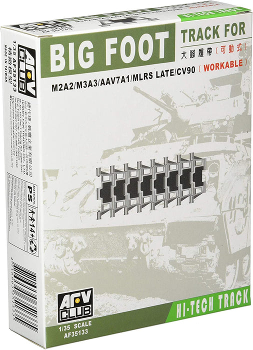 "1/35 M2A2/M3A3/AAV741/MLRS CV90 ""BIG FOOT"" TRACK AFV CLUB"