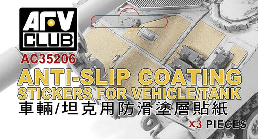 1/35 ANTI-SLIP COATING STICKERS FOR VEHICLE TANK