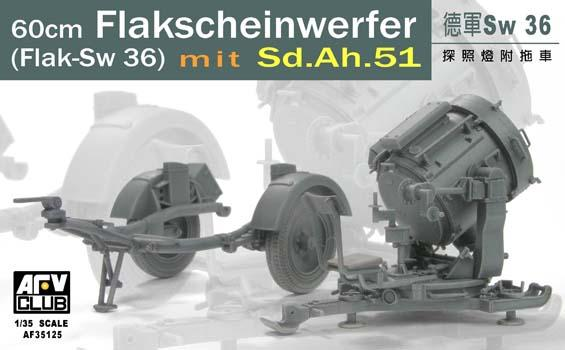 GERMAN SW-36 SEARCHLIGHT W/SD.AH.51 TRAILER