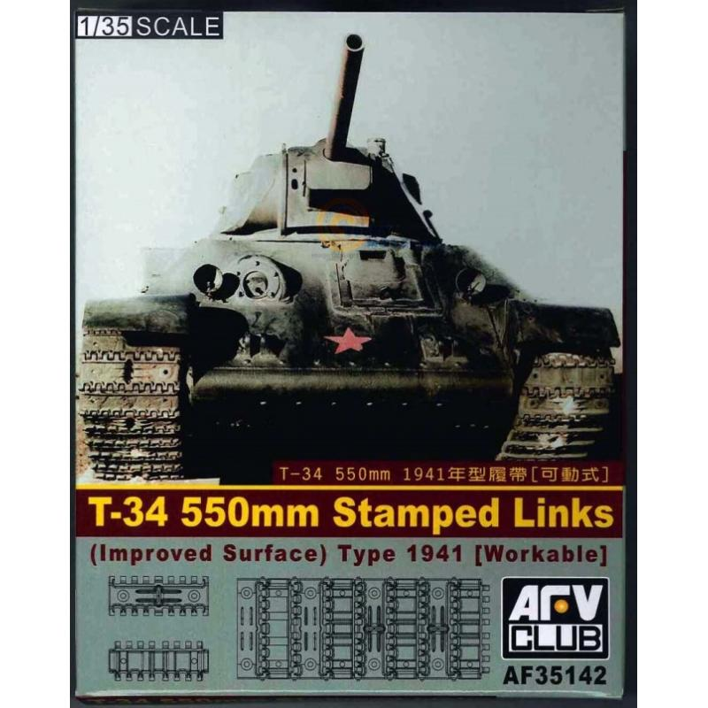 "1/35 T-34""S 550MM STAMPED LINKS (IMPROVED SURFACE) WORKABLE"