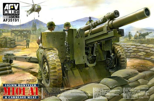 1/35 105MM HOWITZER M101a1 & CARREAGE M2A2