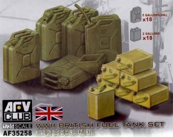 1/35 WWII BRITISH FUEL TANK SET
