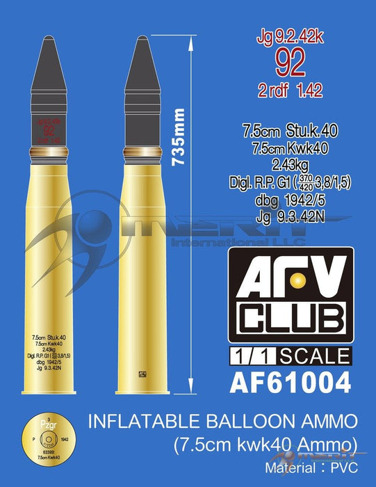 1/1 INFLATABLE BALLOON AMMO (7.5cm KWK40 AMMO)