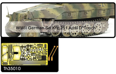 WWII GERMAN SD.KFZ.251 AUSF D 4 MACHINE GUN SHIELD & TOOL BU