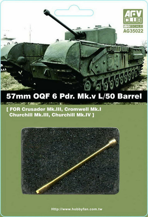 1/35 50MM OQF 6 PDR. MK.V L/50 BARREL AFV CLUB AG35022