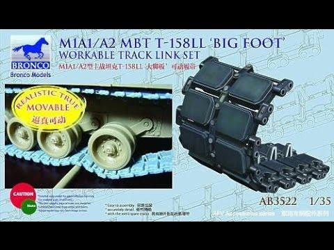 1/35 M1A1/A2 MBT T-158LL 'BIG FOOT' WORKABLE TRACK LINK SET