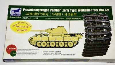 1/35 PANTHER (EARLY TYPE) WORKABLE TRACK LINK SET
