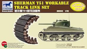 1/35 SHERMAN T51 WORKABLE TRACK LINK SET