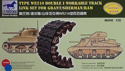 1/35 TYPE WE210 DOUBLE I WORKABLE TRACK LINK SET FOR SHERMAN/GRANT/RAM