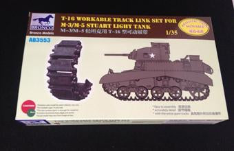 1/35 T-16 WORKABLE TRACK LINK SET FOR M-3/M-5 STUART LIGHT TANK