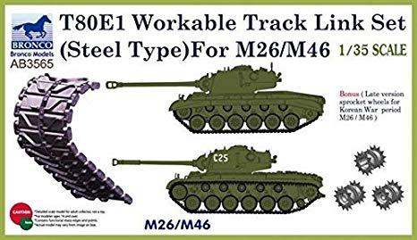 1/35 T-80E1 WORKABLE TRACK LINK SET (STEEL TYPE) FOR M26/M46