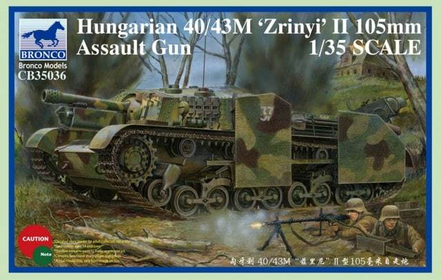 1/35 HUNGARIAN 40/43M 'ZRINYI' II 105mm ASSAULT GUN