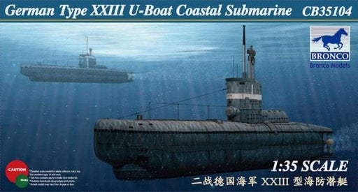 1/35 GERMAN U-XXIII COASTAL SUBMARINE