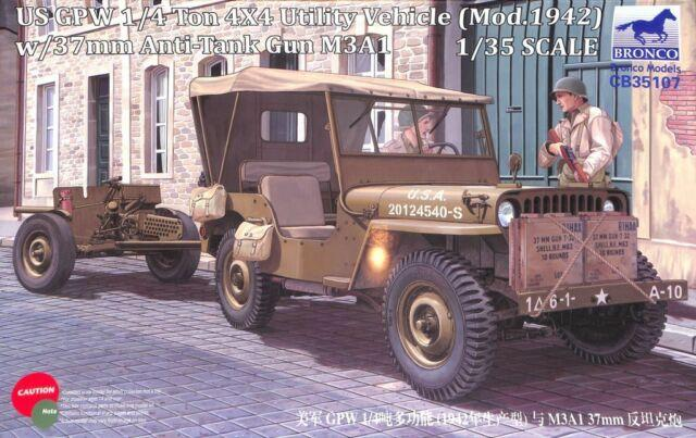 1/35 US GPW 1/4 TON 4/4/ UTILITY VEHICLE W / ANTI TANK
