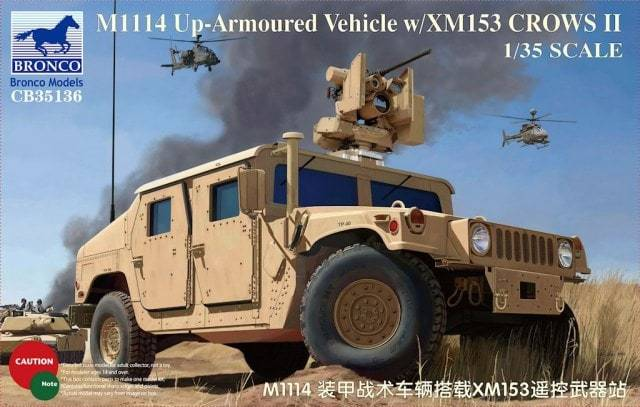 1/35 M1114 UP-ARMOURED VEHICLE W/XM153 CROWS II