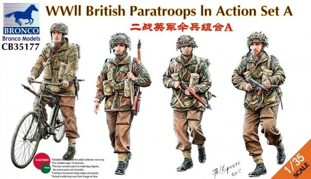 1/35 WWII BRITISH PARATROOPS IN ACTION SET A