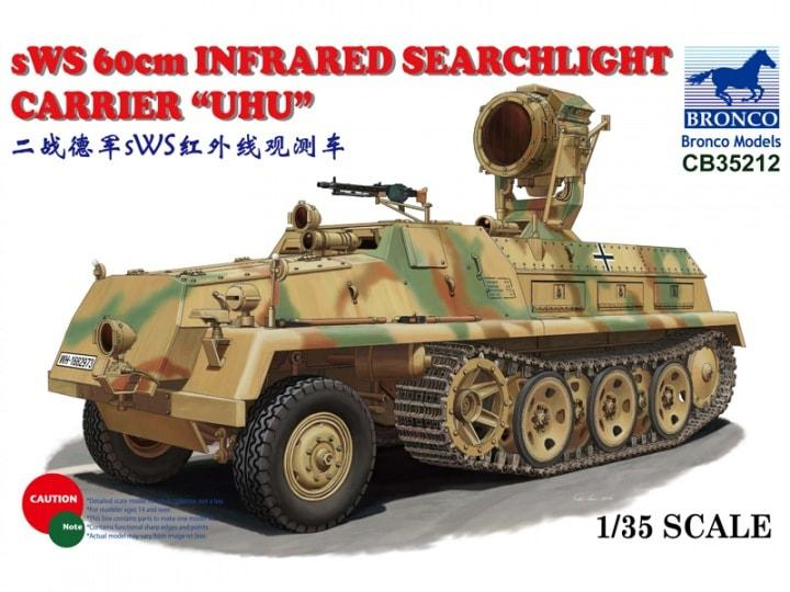 1/35 SWS 60cm INFRARED SEARCHLIGHT CARRIER 'UHU'