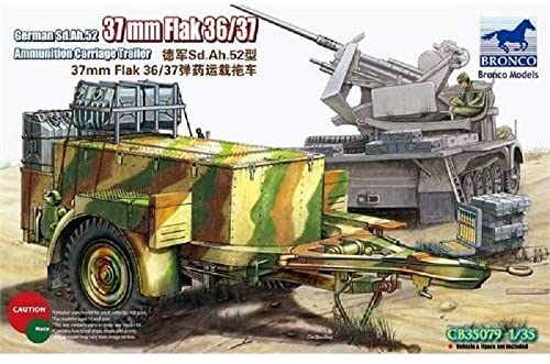 1/35 GERMAN SD.AH.52 37mm FLAK 36/37 AMMUNITION CARRIAGE TRAILER BY BRONCO MODELS